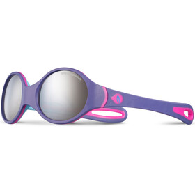 Julbo Loop Spectron 4 Sunglasses Baby 2-4Y Purple/Sky Blue/Fluorescent Pink-Gray Flash Silver